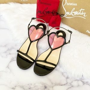 Cora Christian Louboutin Heart Flats